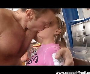 Rocco Eats Young Blonde Teen Ass Then Throat Fucks Another
