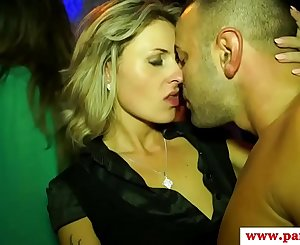 Sexy euros at party sucking dick before gonzo