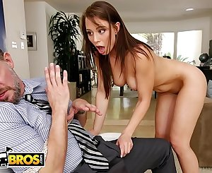 BANGBROS - Young Step Daughter Aidra Fox Takes Control Of Her Step Dad
