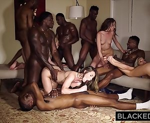 BLACKEDRAW Four College Chicks In INSANE BBC Gang-bang