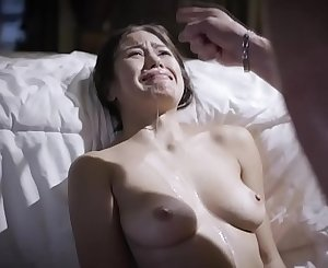 Holy zombie Jesus! A fucking asshole to father is violating, fucking and filling up his own crying daughter Kendra Spade's mouth with his filthy cum!