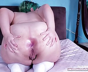 Ass fucking Gape Adventures 2 - Buttered anal fisting and gaping with my HUGE toy!