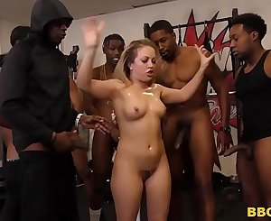 Carmen Valentina Gets Gangbanged By Big Black Sensitive