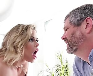 Big Tit Blonde Gets Fucked By A Bigger Dick Than Her Cucked Husband Has