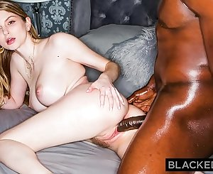 BLACKEDRAW Blonde Babe Gets Dominated By Big Big black cock