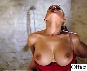 Round Big Boobs Lady (lou lou) Gonzo Style Nailed In Office clip-19